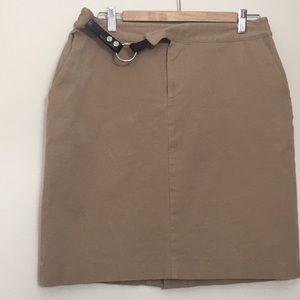 Chaps Khaki Skirt